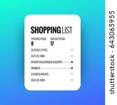 shopping list  user interface...