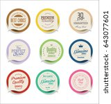 modern badges and labels... | Shutterstock .eps vector #643077601
