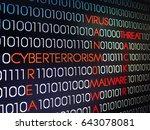 digital abstract background ... | Shutterstock . vector #643078081