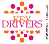 key drivers pink orange... | Shutterstock . vector #643082629