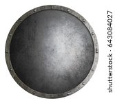 medieval round shield isolated... | Shutterstock . vector #643084027