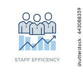 staff efficiency vector icon... | Shutterstock .eps vector #643088359
