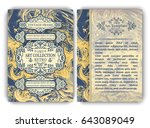 flyer template with vintage... | Shutterstock .eps vector #643089049