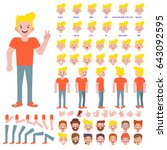 vector young man character for... | Shutterstock .eps vector #643092595