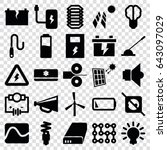 electricity icons set. set of... | Shutterstock .eps vector #643097029