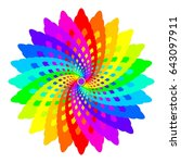 abstract rainbow colored