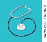 phonendoscope or stethoscope...   Shutterstock .eps vector #643098241