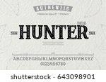font.alphabet.script.typeface... | Shutterstock .eps vector #643098901