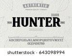 font.alphabet.script.typeface... | Shutterstock .eps vector #643098994