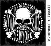 skull t shirt graphic design | Shutterstock . vector #643106659