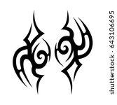 tribal tattoo art designs.... | Shutterstock .eps vector #643106695