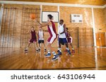 determined basketball players... | Shutterstock . vector #643106944
