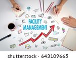 facility management concept.... | Shutterstock . vector #643109665