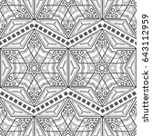 simple black and white seamless ...   Shutterstock .eps vector #643112959