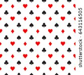 seamless pattern background of... | Shutterstock .eps vector #643116505