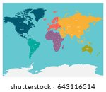political map of world with... | Shutterstock .eps vector #643116514