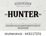 font.alphabet.script.typeface... | Shutterstock .eps vector #643117231