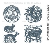 ancient celtic mythological... | Shutterstock .eps vector #643121329