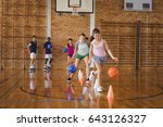 high school kids practicing... | Shutterstock . vector #643126327