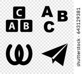 alphabet icons set. set of 4...   Shutterstock .eps vector #643129381