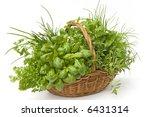 Basket Of Herbs   Parsley ...
