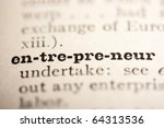word entrepreneur from the old...   Shutterstock . vector #64313536
