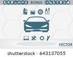 car service icon vector eps 10  ... | Shutterstock .eps vector #643137055