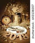 new years eve celebration.... | Shutterstock . vector #643138207