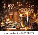 new years eve celebration...   Shutterstock . vector #643138579