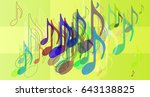 musical note elements idea | Shutterstock .eps vector #643138825