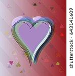 valentine pattern background | Shutterstock .eps vector #643141609
