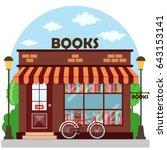 bookshop  bookstore  building... | Shutterstock .eps vector #643153141
