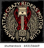 motorcycle label t shirt design ... | Shutterstock . vector #643156669