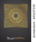 thai art element. traditional... | Shutterstock .eps vector #643157155
