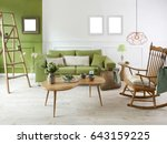 new natural wood furniture... | Shutterstock . vector #643159225