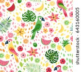 seamless pattern with colorful... | Shutterstock .eps vector #643160005