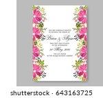 pink hibiscus tropical flower... | Shutterstock .eps vector #643163725