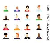 group of working people... | Shutterstock .eps vector #643164091