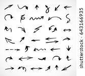 hand drawn arrows  vector set | Shutterstock .eps vector #643166935