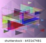 geographic design background | Shutterstock .eps vector #643167481