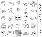 social media marketing icons... | Shutterstock . vector #643177951
