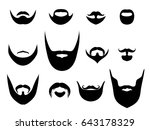 men silhouette shapes of beards ... | Shutterstock . vector #643178329