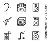 bass icons set. set of 9 bass... | Shutterstock .eps vector #643178584