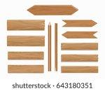 wooden planks isolated on... | Shutterstock . vector #643180351