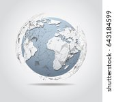global network connection.... | Shutterstock .eps vector #643184599