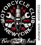 motorcycle poster design...   Shutterstock . vector #643185121