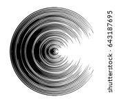 concentric  radiating circle ... | Shutterstock .eps vector #643187695