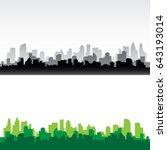 city building silhouette.... | Shutterstock .eps vector #643193014
