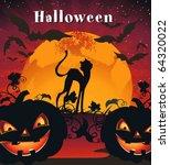 card for halloween... | Shutterstock .eps vector #64320022