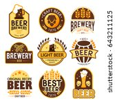 brewery logos and emblems... | Shutterstock .eps vector #643211125